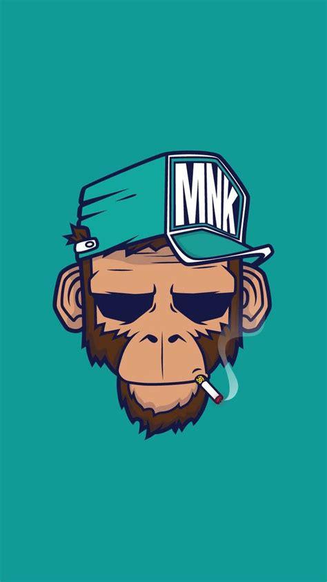 Cool Wallpaper For Iphone Monkey Illustration Best