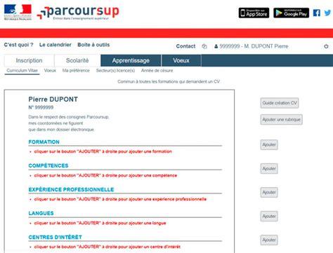 Cv En Franàçais Exemple by Faire Cv Parcoursup En 2019 Pas 224 Pas Exemples Cv