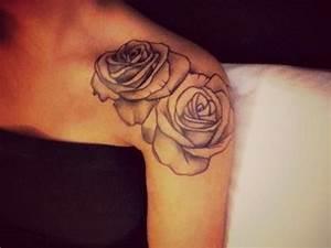Rosen Tattoo Schulter : tattoo rosen schulter tattoo ink pinterest schulter rose und tattoo ideen ~ Frokenaadalensverden.com Haus und Dekorationen