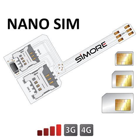 wx triple nano sim dreifach dual sim adapter fuer nano