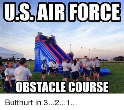 Air Force One Meme - us air force obstacle course butthurt in 321 meme on sizzle