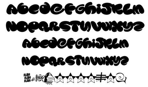 Graffiti Bubble Font :  Graffiti Buble Fonts Letters Design
