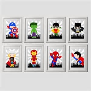 superhero wall art superhero wall decor digital files