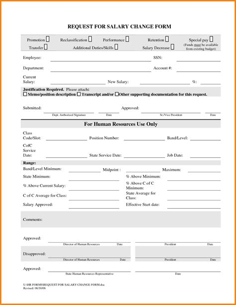 change template 7 payroll change form template simple salary slip