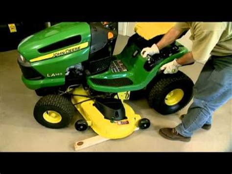 deere mower deck removal how to remove and attach a lawn mower deck deere