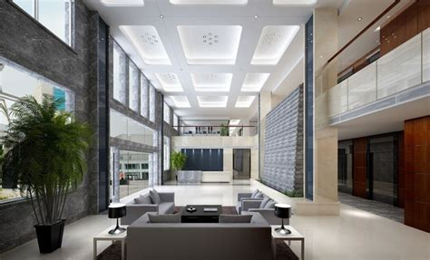 building and interior design interior 3d design of office building lobby sofa seating area