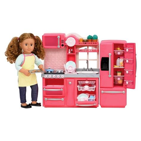 our generation kitchen set our generation 174 gourmet kitchen accessory set pink target