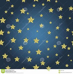 Blue Background With Gold Stars Stock Vector ...