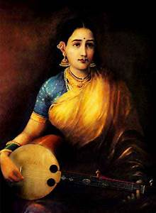#IndianPaintings - Lady with Swarbat (oil painting on ...