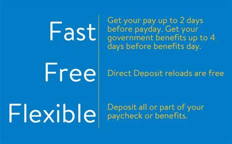 direct deposit walmart moneycard prepaid debit cards