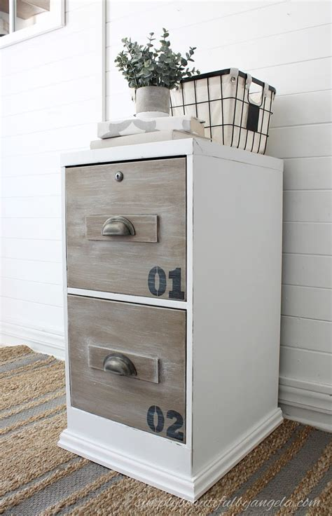 how to paint metal file cabinet 12 fabulous filing cabinet makeovers the budget decorator