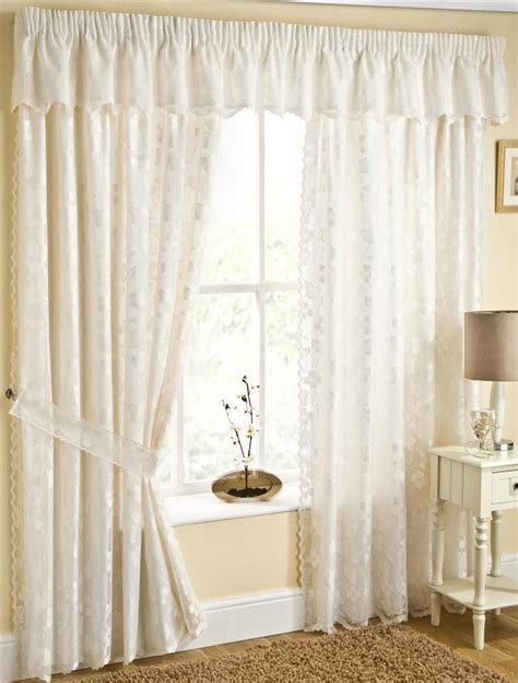 fiji fully lined lace curtains with butterflys