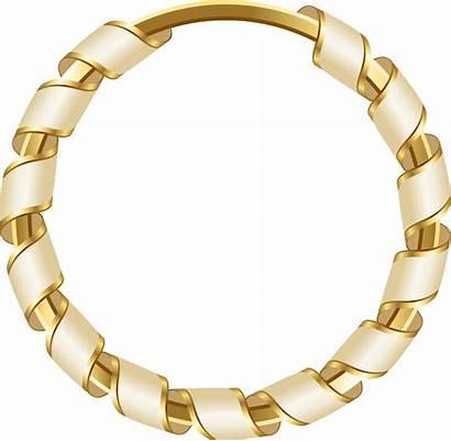 Circle Gold Clipart Frame Round Golden Transparent