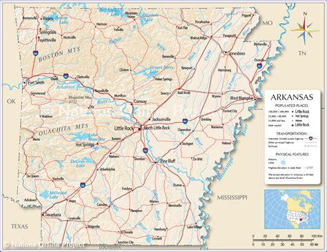 map  arkansas arkansas maps mapsofnet