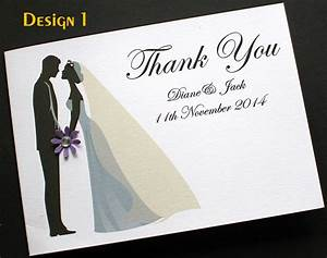 pack of handmade personalised wedding thank you cards 3 With packs of wedding thank you cards