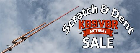 kb9vbr antennas scratch and dent sale kb9vbr j pole antennas