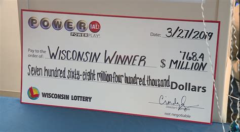 wisconsins biggest powerball jackpot winning ticket sold