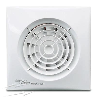 Selv Silent 100mm Bathroom Fan With Timer, Humidistat, And