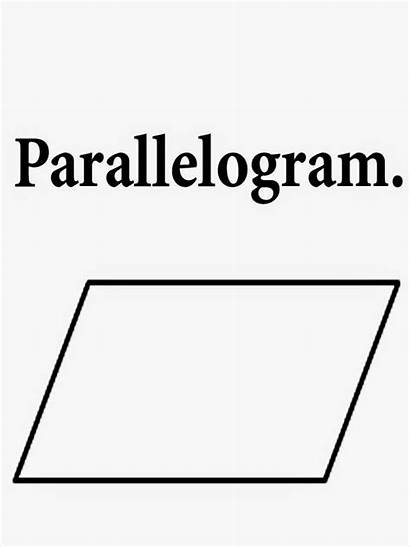 Printable Coloring Parallelogram Parallel Sides Words Geometry