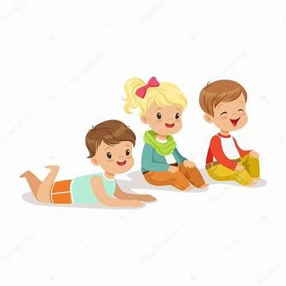 Dem Sitzen Boden Bambini Kinder Vloer Sitting