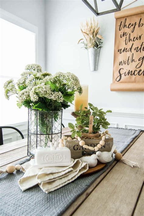 Springtime Farmhouse Table Centerpiece A Hosting Home
