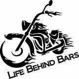 Behind Bars Motorcycle Biker Decal Birthday Cave sketch template