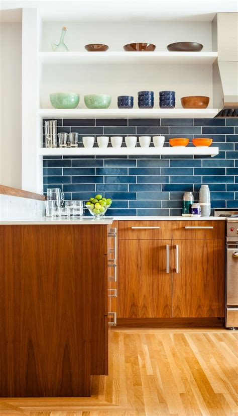 kitchen cabinets pictures free blue tiles from heath ceramics and walnut cabinets 6320