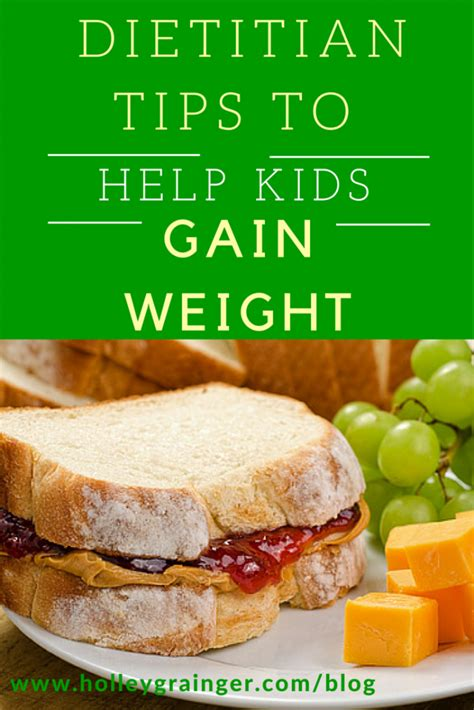 Foods for weight gain if an elderly person needs to gain weight , but isn't getting enough calories, add calories through nutritious snacking. Dietitian Tips to Help Your Child Gain Weight - Holley ...