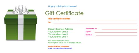 Date Gift Certificate Templates by Get A Free Gift Certificate Template For Microsoft Office