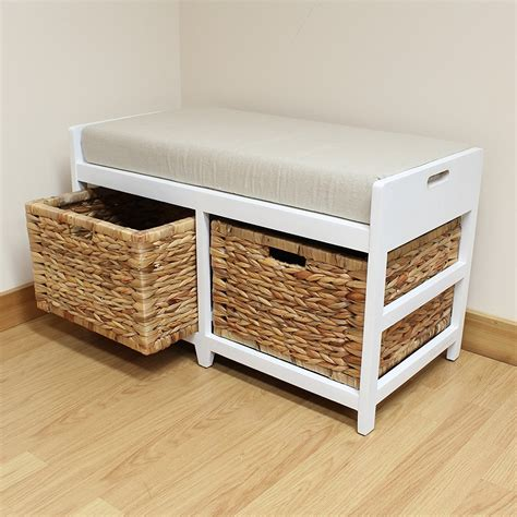 Bench Seat With Basket Storage by Furniture Storage Bench Seat For Tidiness Of The Room