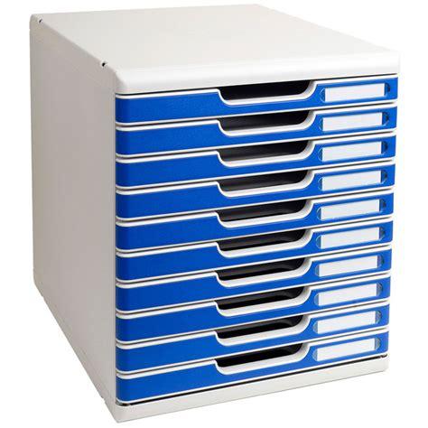 fourniture bureau bordeaux exacompta modulo 10 tiroirs gris bleu module de