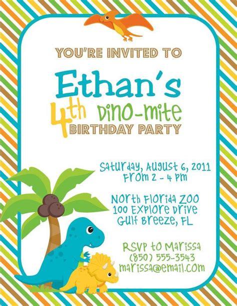 dinosaur party invitations   dinosaur