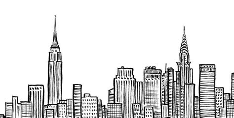 New York City Skyline, Nyc, Empire State, Chrystler Building, Ink, Line Art, Duopress, Doodle Line Graph Related Questions Equation Of The Math Excel Plot Points Formula In Timeline Regression Add To Bar 2016 Writing Band 9