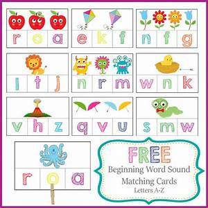 free beginning word sound cards With letter sound cards