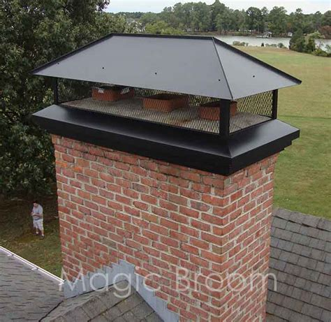 fireplace chimney cap chimney caps ders southern md magic broom chimney