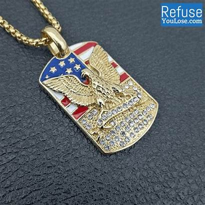 Eagle Dog Includes Flag Chain American Refuse