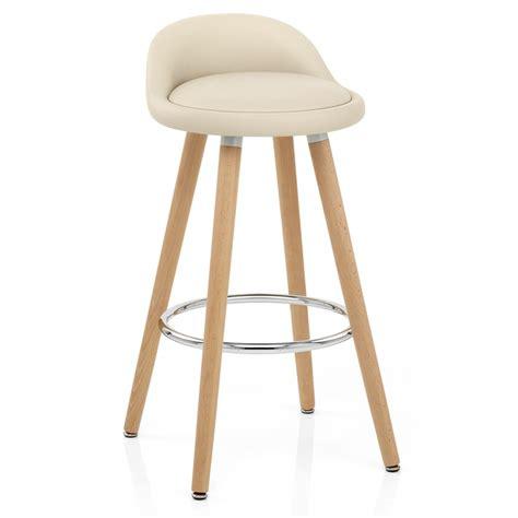 tabouret de bar creme chaise de bar bois faux cuir jive monde du tabouret