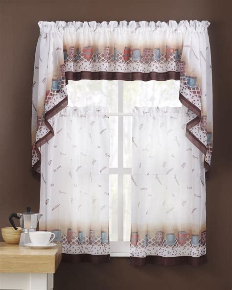 kmart curtains and valances colormate window valance coffee