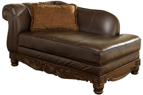 ashley furniture north shore dark brown leather corner