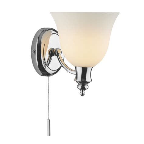 oboe upward facing ip44 chrome bathroom wall light