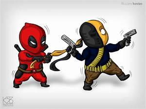 Chibi Deadpool and Deathstroke by Kavizo by KAVIZO on ...