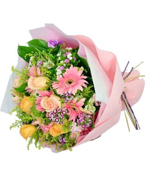 send mixed color flower bouquets   coimbatore