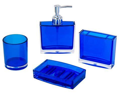 royal blue bath sets 4 bathroom accessory soap dispenser dish