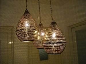 Moroccan black oxidize ceiling fixture lamp chandelier