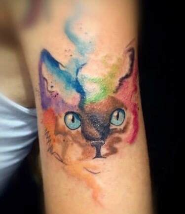 Watercolor Cat Tattoo  Tattoos  Pinterest Watercolor