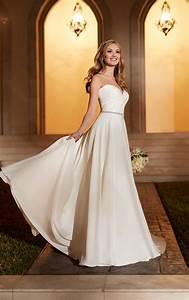 Sheath Wedding Dress With Belt