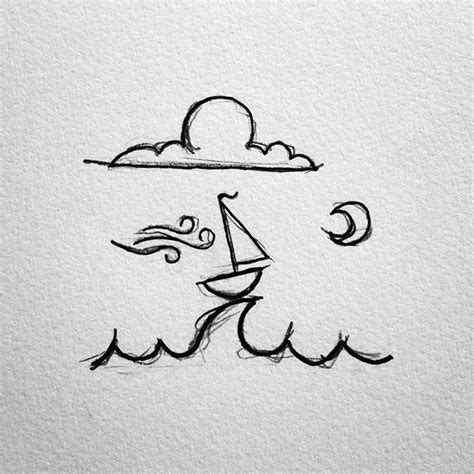 How To Draw A Tiny Boat by A Little Sailboat I Ve Drawn Over The Years Drawing