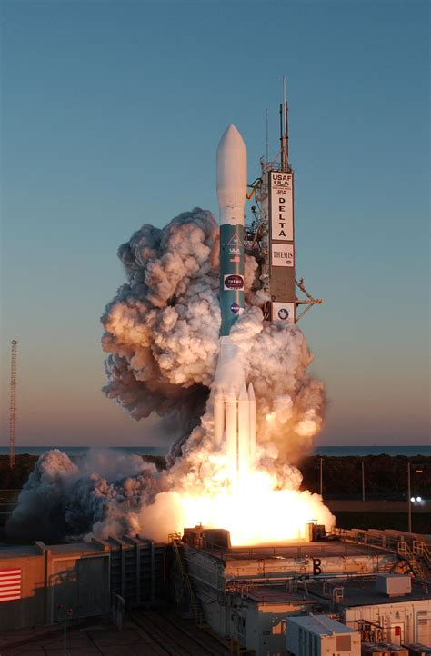 File:Clouds of smoke around the 323rd Delta rocket on ...