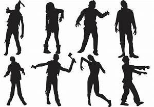 Zombie Silhouettes Vector - Download Free Vector Art ...