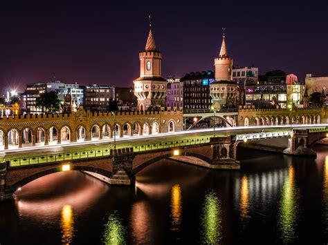 oberbaumbruecke berlin bei nacht wallpaperscom